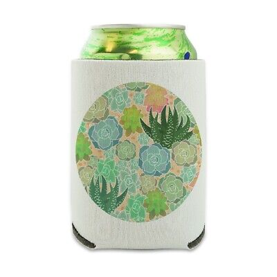 Succulent Cactus Aloe Plants Pattern Can Cooler Drink Hugger Insulated Holder](Cactus Cooler Drink)