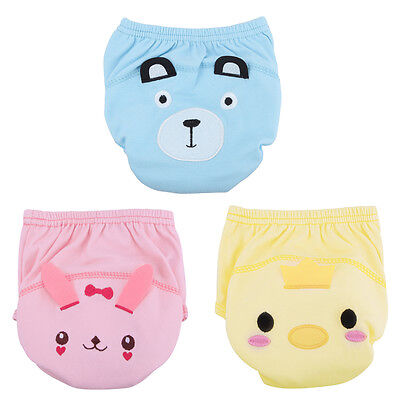 Baby Boys Girls Training Pee Potty Cloth Diaper Pants Nappy Kid Infant Underwear