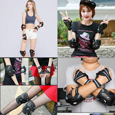 6Pcs ABS Sports Skateboard Protector Gear Set Elbow Knee Wrist Pads Bike Kids