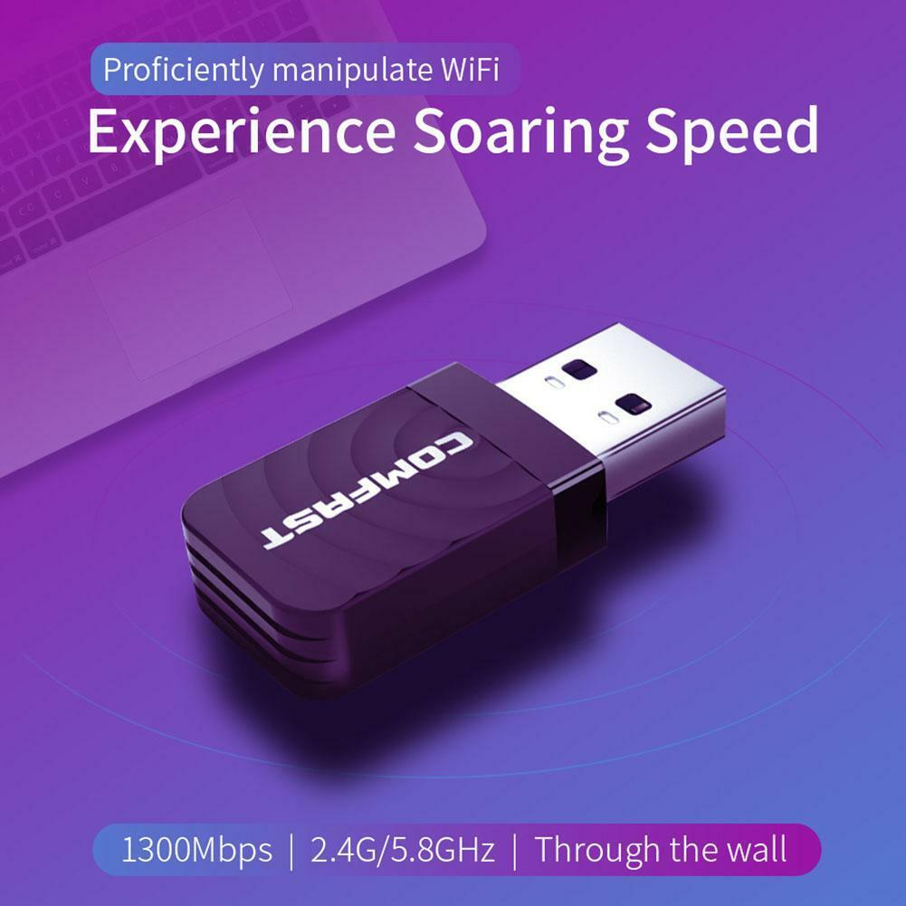 COMFAST USB Network Card 1300Mbps WiFi Dongle Adapter 802.11