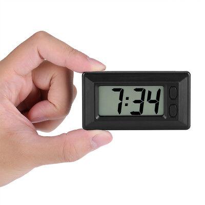 Small Black Electric Digital LCD Clock Date Time Calendar Ultra-thin Car Clock