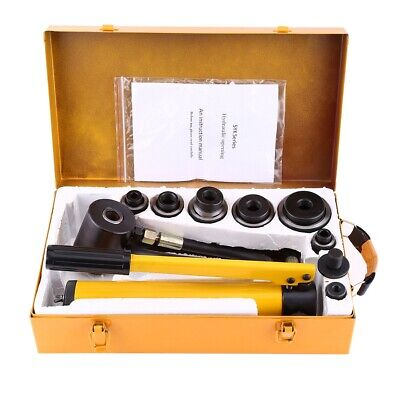 10 Ton 6 Dies Hydraulic Knockout Punch Driver Kit Hole Hand Tool 22mm -60mm New