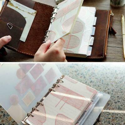 5pcs A5 A6 Planner Divider Refill Notebook Loose-leaf Index Page Leaf Spiral