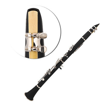 B-Klarinette Bb Klarinette 17 Tonart Blasinstrument Orchester im Koffer schwarz