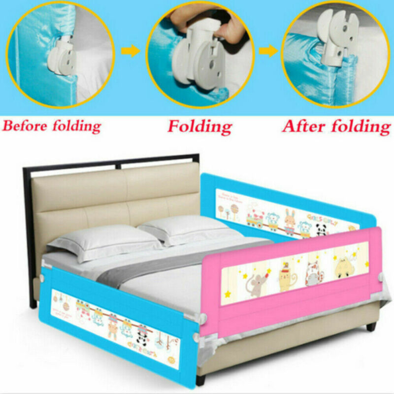150cm Safety Child Toddler Bed Rail Baby Bedrail Fold Cot Guard Protection