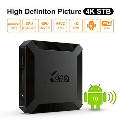 X96Q Smart TV Box 4+64G Android 10.0 WiFi Quad Core 1080P 4K Media Player