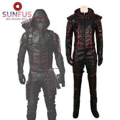 Halloween Green Arrow Season 7 Oliver Queen Dark Arrow Variant Costume Cosplay](Costume Arrow)