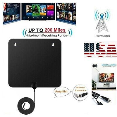 200 Mile HDTV Antenna Aerial HD Digital TV Signal Amplifier