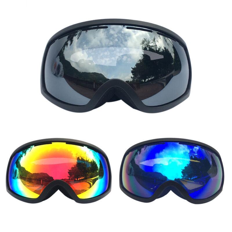 Rimless Ski Goggles OTG Fogproof Snowboard Glasses Double In
