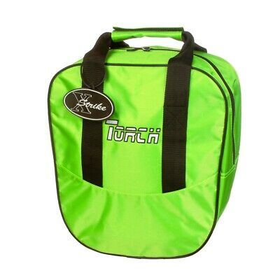 NEW TORCH 1 BALL LIME SINGLE BOWLING BAG WITH ROOM FOR BALL & SHOES