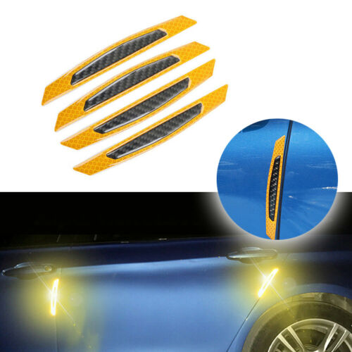 Carbon Fiber Car Accessories Door Scratch Bumper Scuff trim Stickers 2Pairs