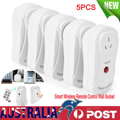 5PCS AU Plug Smart Wireless Remote Control Wall Socket Switch Power Outlet New