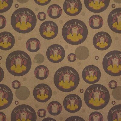 Peep A Boo Ghost Halloween Premium Kraft Gift Wrap Wrapping Paper Roll](Halloween Gift Wrapper)