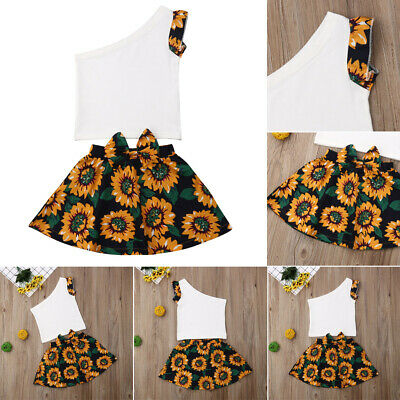 Baby Girls Floral Clothing Sets Kids Girls 2pcs Outfits For Toddler Clothes Suit (Kids Outfits For Girls)
