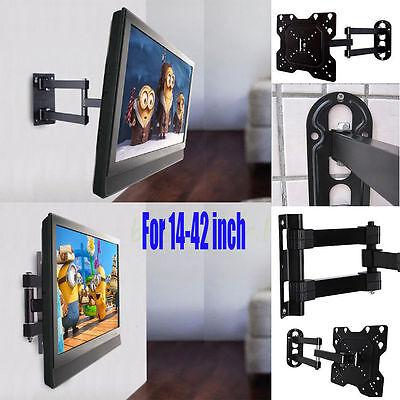 Full Motion TV Wall Mount Swivel Bracket 14 20 27 32 37 42