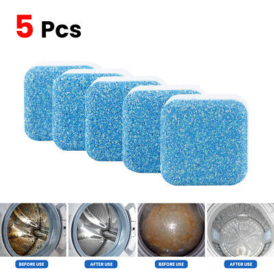 5Pcs Washing Machine Cleaner Detergent Effervescent Tablets Washer Deep Cleaning
