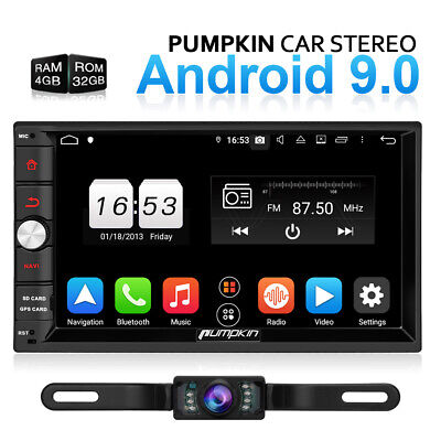 "PUMPKIN Octa-Core Double 2Din 7"" Android 9.0 Car Stereo 4GB+32GB GPS Navi+Kamera"