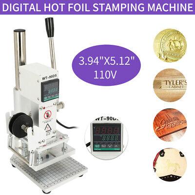 110v Hot Foil Stamping Machine Leather Stamper 1013cm Leather Embosser