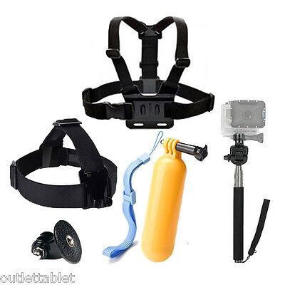 Super pack accesorios 4 en 1 para Vídeo Cámara SPORT CAM acción