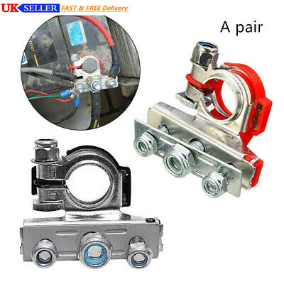 1 Pair 12V 24V Heavy Duty Battery Terminal Quick Connector Cable Clamp Clip UK