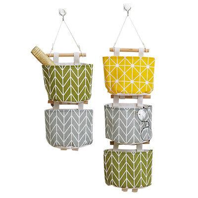 1 Pocket Hanging Organizer Wall Door Closet Home Mount Storage Cotton Linen Bag