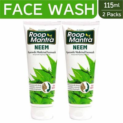 Roop Mantra Herbal Neem Face Wash Best For Acne And Pimples - 115ml (Pack of