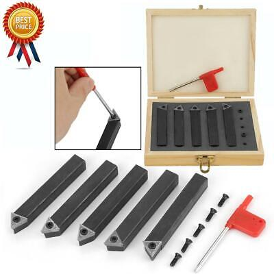 38 5 Pcs Indexable Insert Lathe Tool Bit Carbide Turning Tool Set With Box Usa