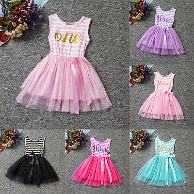 Toddler Kids Baby Girls Princess Birthday Party Pageant Tutu Tulle Dress - 3t Birthday Dress