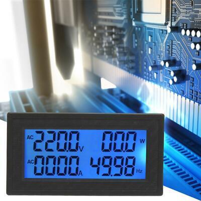 Digital Panel Meter Ac Voltmeter Frequency Volt Amp Power Energy Meter 60500v C