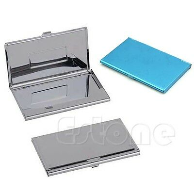1x Stainless Steel Business Name Credit Id Card Holder Box Metal Pocket Box Case