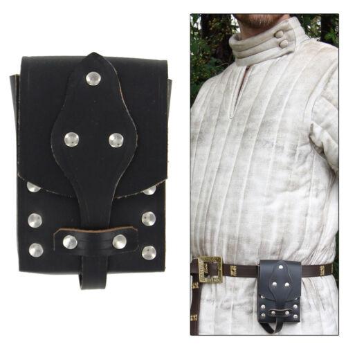 Genuine Leather Biker Last Ride Medieval Renaissance Knight Belt Pouch