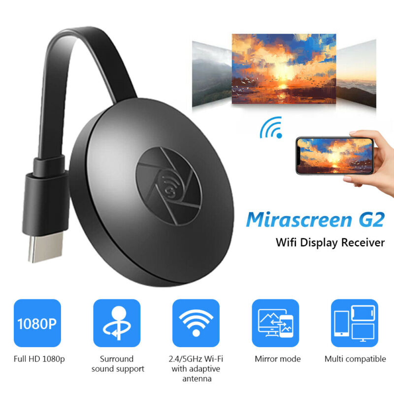 WIFI WIRELESS HDMI MIRROR SCREEN DISPLAY ADAPTER FOR 1080P TV MIRACAST DONGLE 3