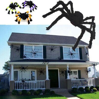 Riesen Spinne & Spinnennetz Tarantula Plüsch Halloween Deko Horror Geisterhaus