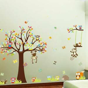 Animal Nursery Wall Stickers 4 x Designs Avaliable Golden Grove Tea Tree Gully Area Preview
