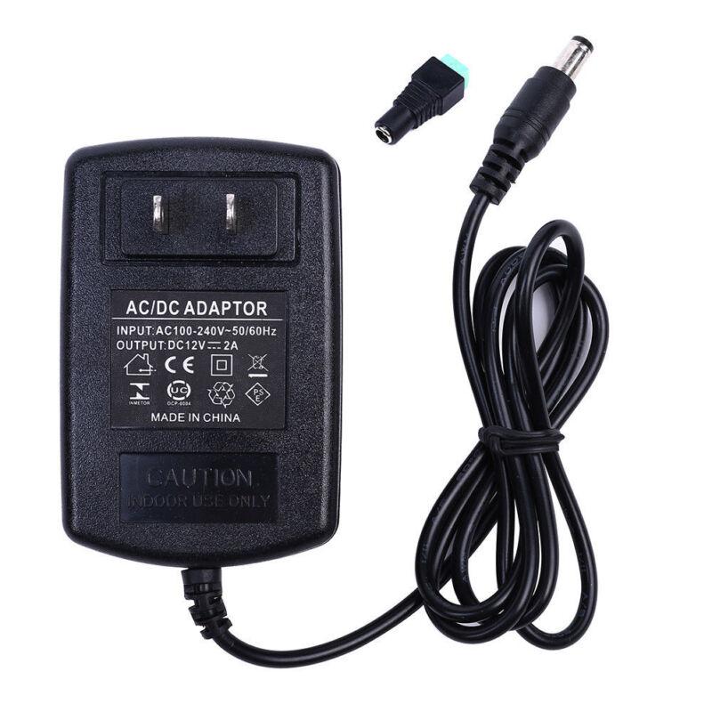 12V 2A 24W Power Supply AC 100-240V To DC Adapter Plug For 3528 5050 LED Strip