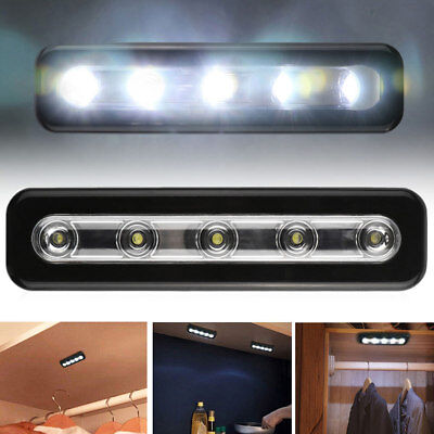 Portable Wireless 5Led Stick-on Nightlight Under Kitchen Cabinet Light Lamp