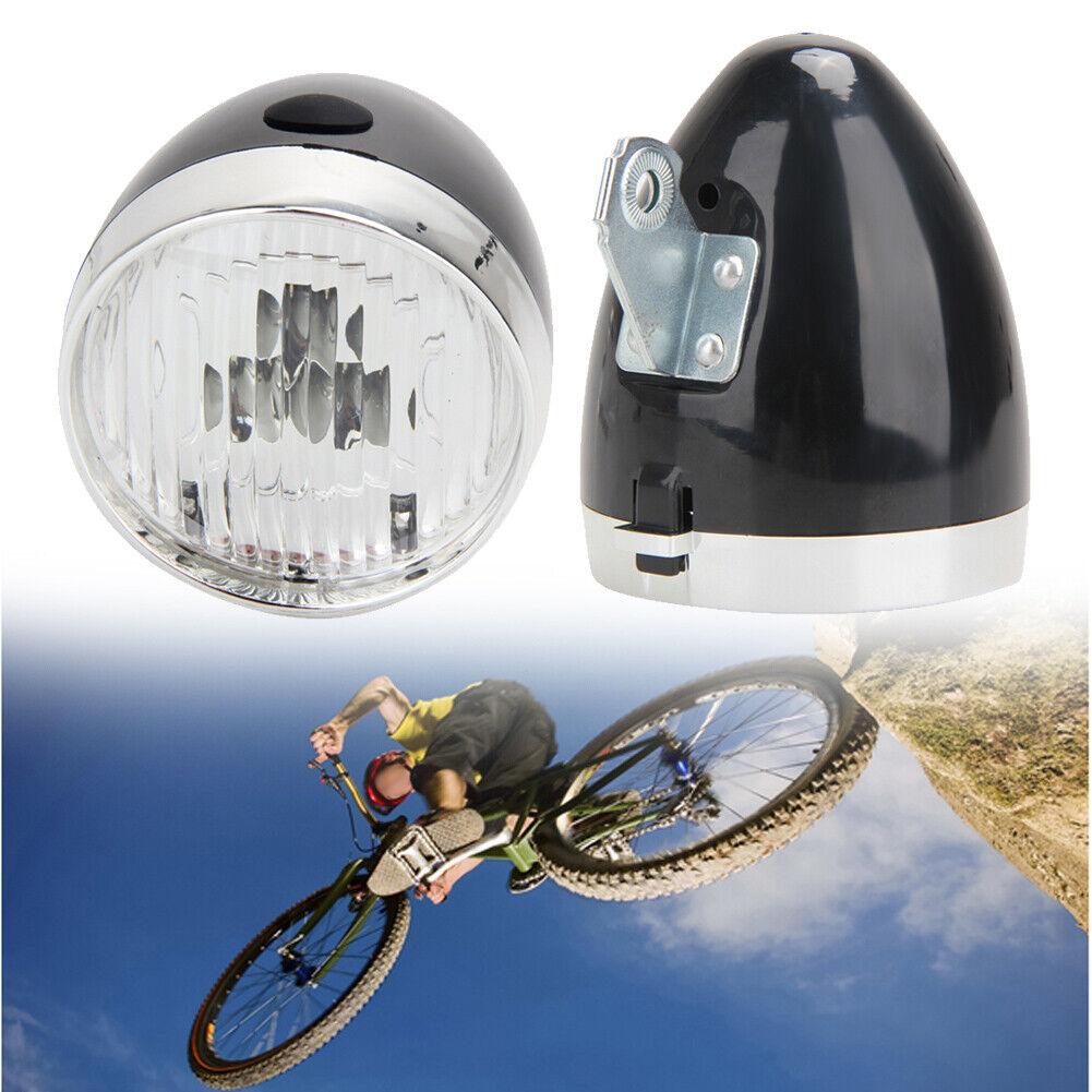 3 LED Fahrrad Scheinwerfer Bike vorne leichte Vintage MTB Fahrrad Lampe Tas Neu
