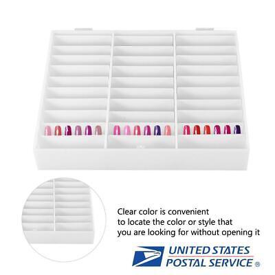Nail Art Box Nail Tips Storage Display Rhinestones Decoration Container US Stock