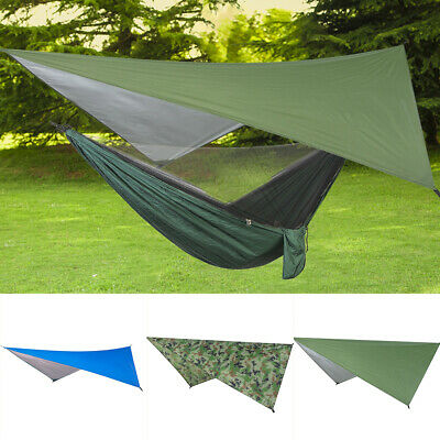 Waterproof Large Lightweight Camping Tent Tarp Shelter Hammock Rain Fly Cover Pe