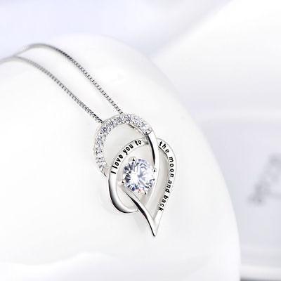 OPEN HEART NECKLACE PENDANT W/ 3.50 CT BAGUETTE Crystal White Gold Plated (Crystal Open Heart Necklace)