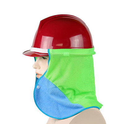 3psc Hard Hat Sun Shield Mesh Shade Uv Protection Cooling Neck Face Helmet Towel