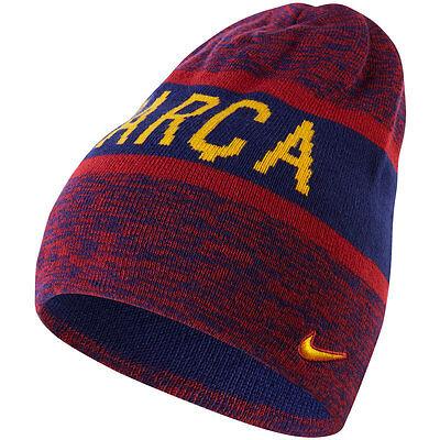 Nike FC Barcelona Season 2016 - 2017 Soccer Woolie Reversible Beanie New