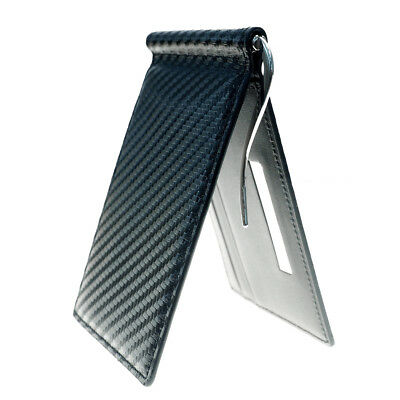 Carbon Fabric Personalized Money Clip Billfold Wallet Excuve G11-Free Engraving