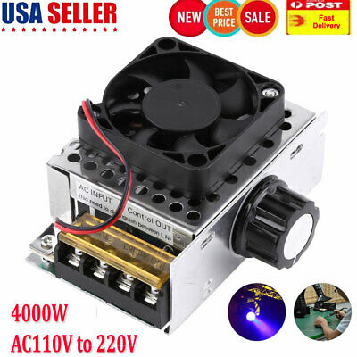 4000w 110v Ac Scr Motor Speed Controller Module Voltage Regulator Dimmer Fan
