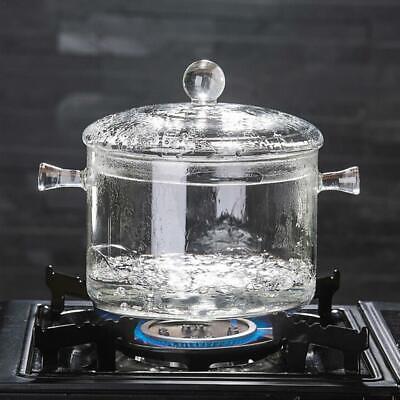 1300ml Transparent Glass Soup Pot Cooker Salad Instant Noodle Bowl Cooking Tool ()