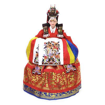 "Korean Traditional Handicraft Doll Wedding Dress 15"" Collectible Figure Gift"
