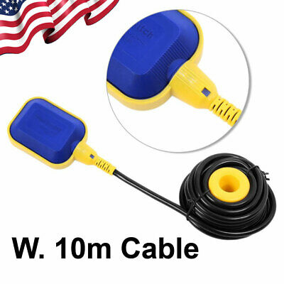 Float Switch Water Or Liquid Level Sensor Submersible Pump Controller 10m Cable