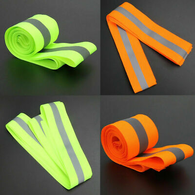 Reflective Lime Green Gray Safety Tape Sew On 2 Trim Fabric Material 10 Feet