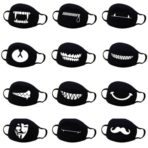 unisex cotton anime mouth face mask anti