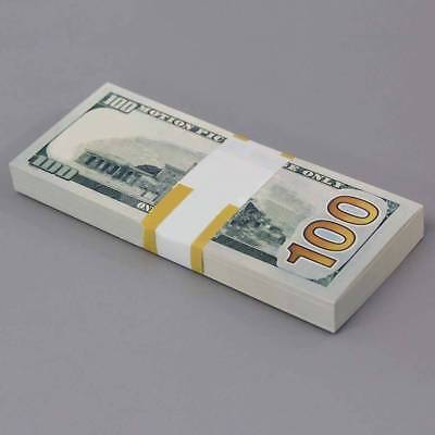 USA Banknote Money Bank Note Paper Gift 100 Sheets Dollar Fake Currency Bill